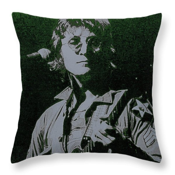 John Lennon Throw Pillow by David Patterson