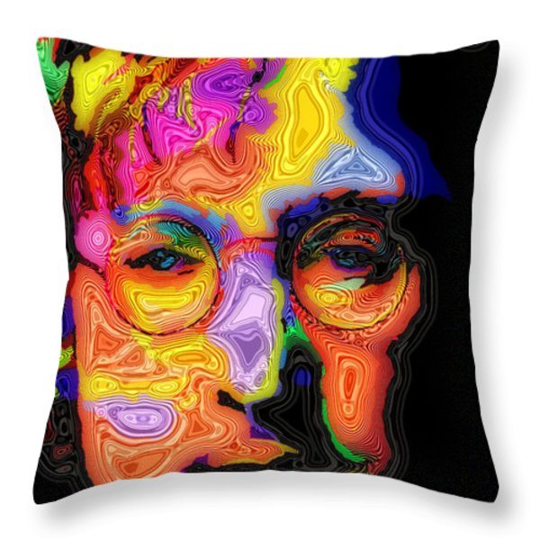 John Lennon Throw Pillow by Stephen Anderson
