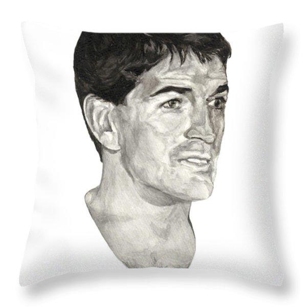 John Stockton Throw Pillow by Tamir Barkan