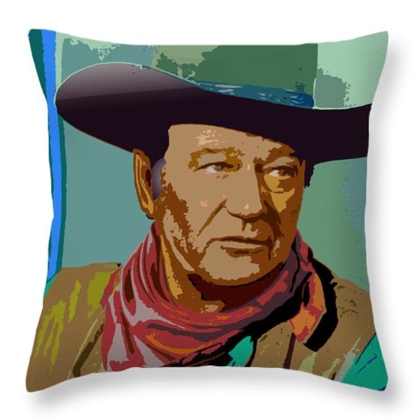 John Wayne Throw Pillow by John Keaton
