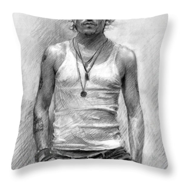 Johny Depp Throw Pillow by Ylli Haruni