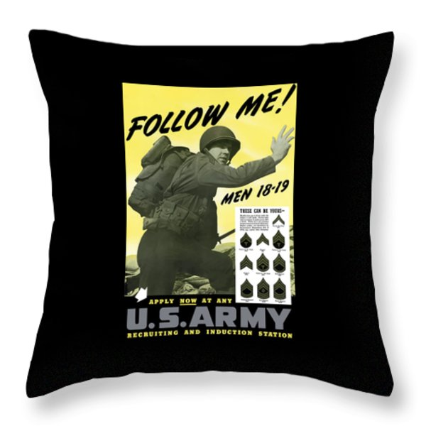 Join The US Army  Throw Pillow by War Is Hell Store