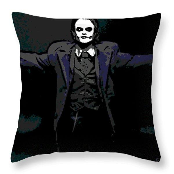 Joker Throw Pillow by George Pedro