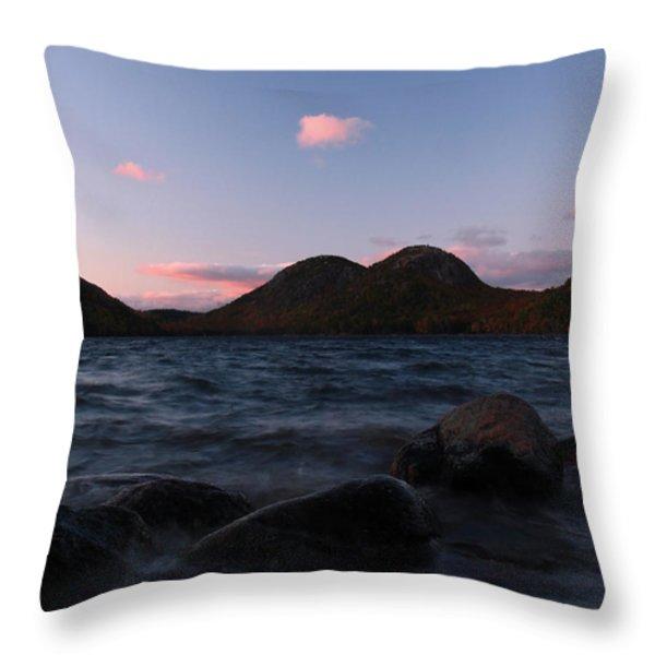Jordan Pond Throw Pillow by Juergen Roth
