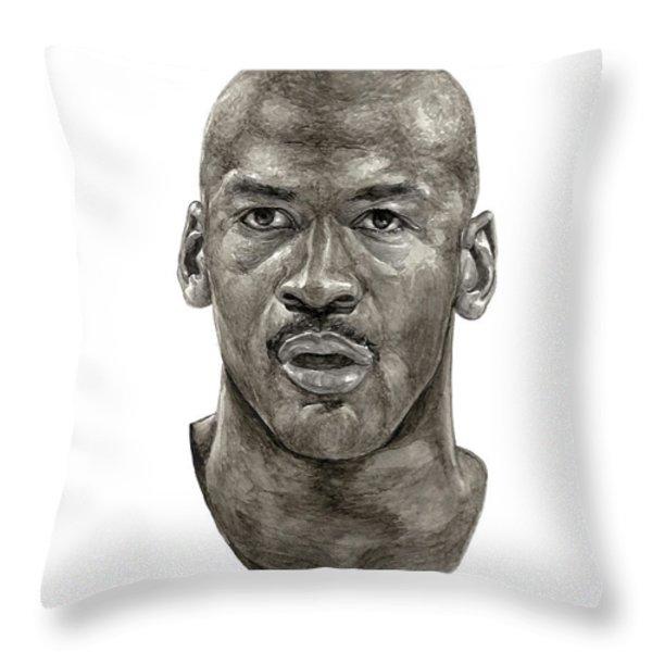 Jordan Throw Pillow by Tamir Barkan
