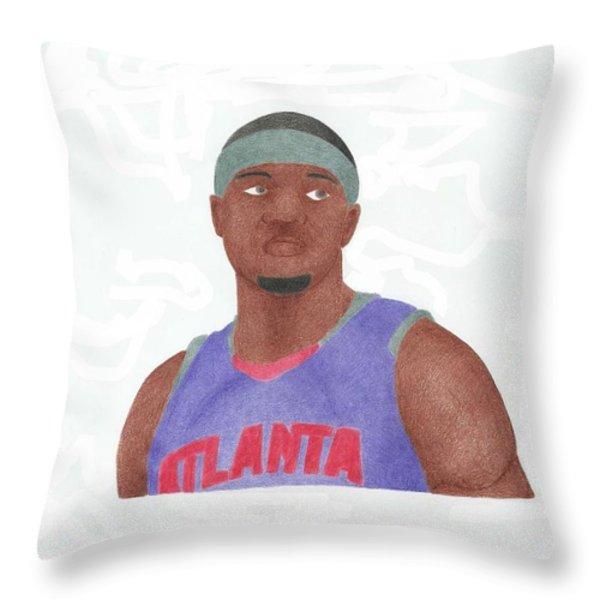 Josh Smith Throw Pillow by Toni Jaso