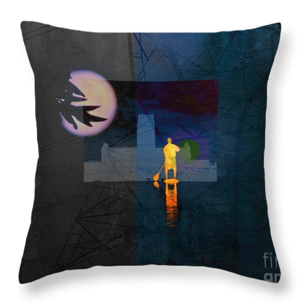 Journey Through Muddy Waters Throw Pillow by Robert Ball