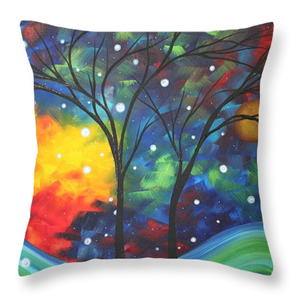 Joy by MADART Throw Pillow by Megan Duncanson