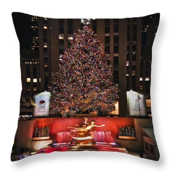 Joy To The World Throw Pillow by Evelina Kremsdorf