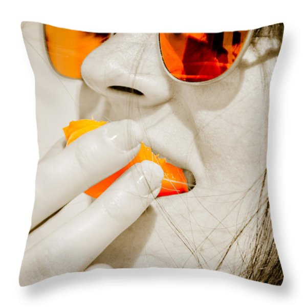 Juicy Fruits Throw Pillow by Loriental Photography