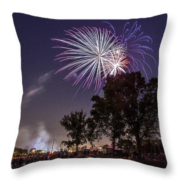 July 4th 2012 Throw Pillow by CJ Schmit