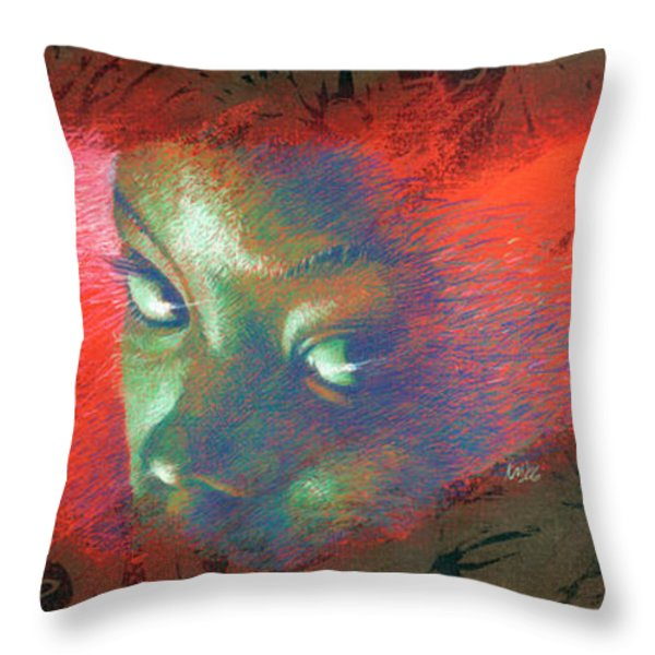 Junglevision Throw Pillow by Ken Meyer jr