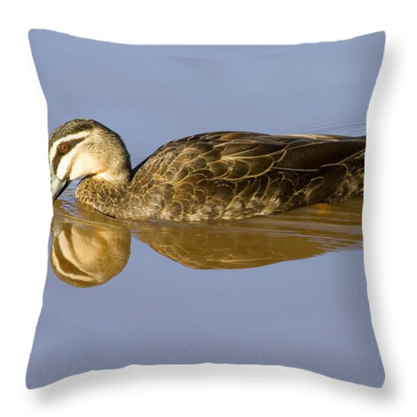 Just A Sip Throw Pillow by Mike  Dawson