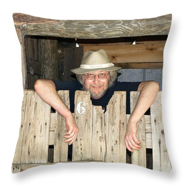 Just Hanging Out Throw Pillow by Kenneth Albin