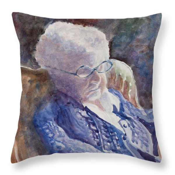 Just Resting My Eyes Throw Pillow by Mary Benke