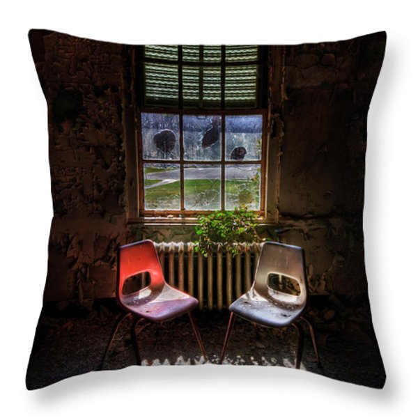 Just The Two Of Us Throw Pillow by Evelina Kremsdorf