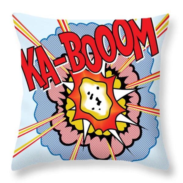 Ka-Booom Throw Pillow by Gary Grayson