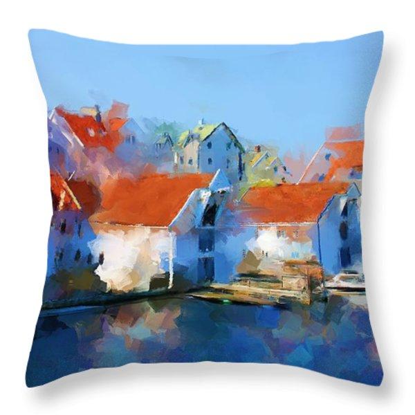 Kai Haugesund  Throw Pillow by Michael Greenaway