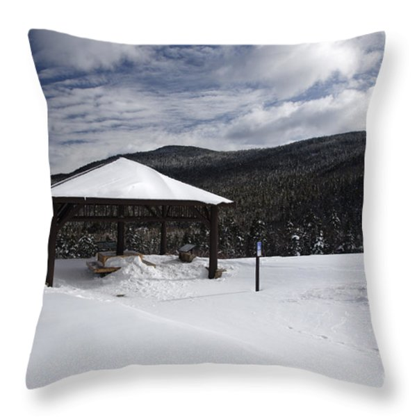 Kancamagus Highway - White Mountains New Hampshire Throw Pillow by Erin Paul Donovan