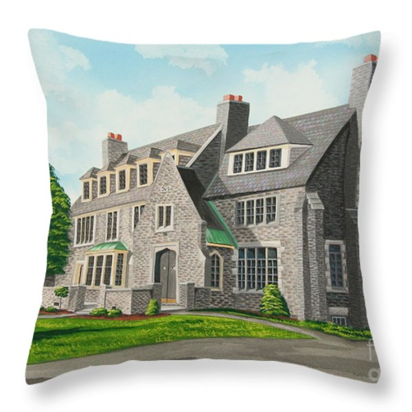 Kappa Delta Rho South View Throw Pillow by Charlotte Blanchard