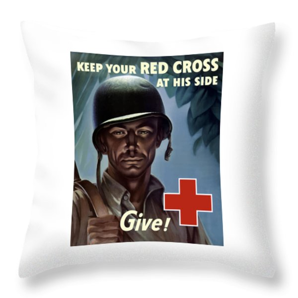 Keep Your Red Cross At His Side Throw Pillow by War Is Hell Store