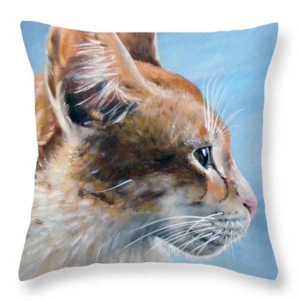 Keeping An Eye On You Throw Pillow by Arie Van der Wijst