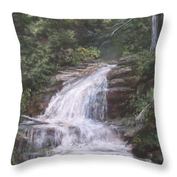 Kent Falls Throw Pillow by Jack Skinner