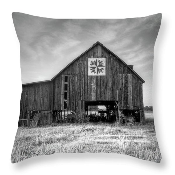 Kentucky Barn Throw Pillow by Judith Pannozo