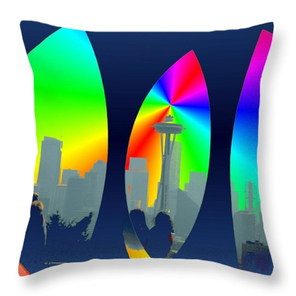 Kerry Needle 3 Throw Pillow by Tim Allen