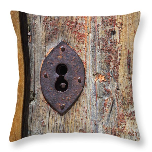 Key hole Throw Pillow by Carlos Caetano