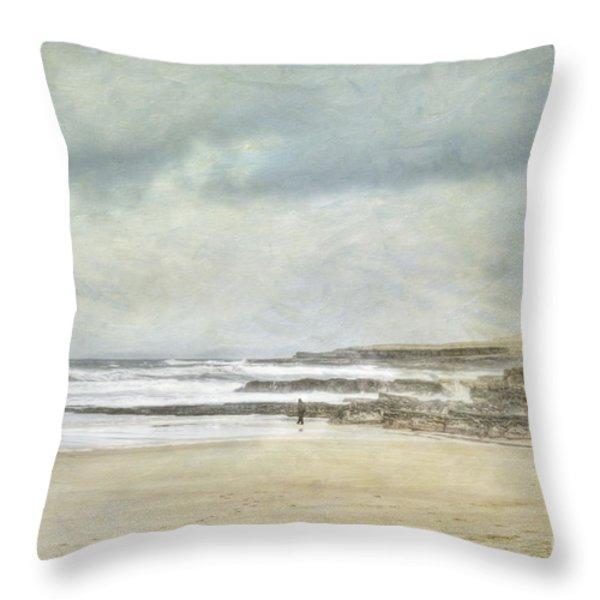 Kilcummin Back Strand Throw Pillow by Marion Galt