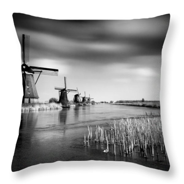 Kinderdijk Throw Pillow by Dave Bowman