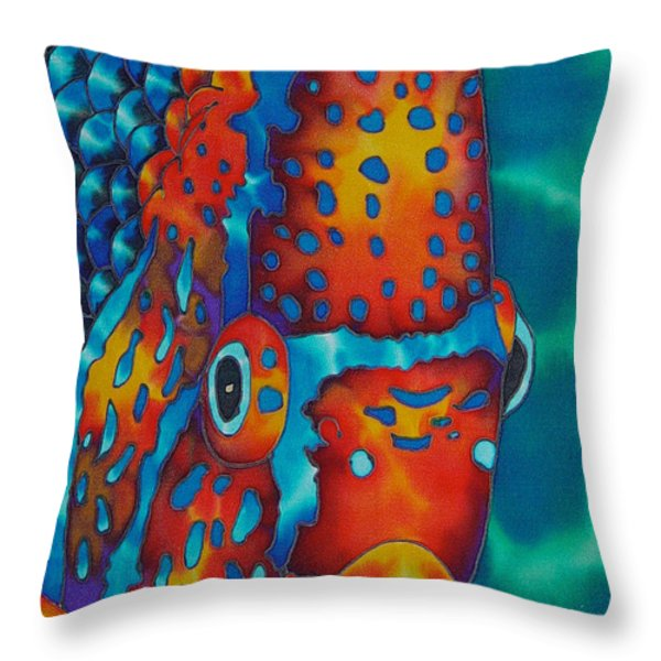 King Angelfish Throw Pillow by Daniel Jean-Baptiste