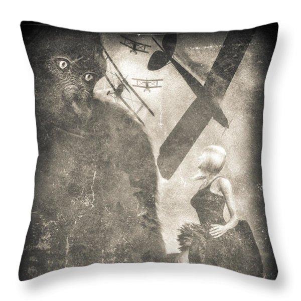 King Kong Throw Pillow by Bob Orsillo