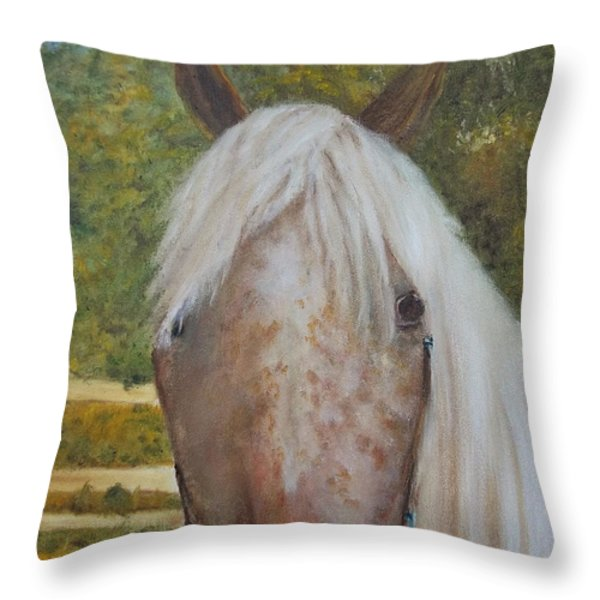 Kisha Throw Pillow by Eydie Paterson