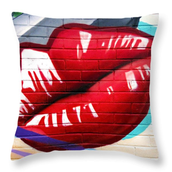 Kiss Me Now ... Throw Pillow by Juergen Weiss