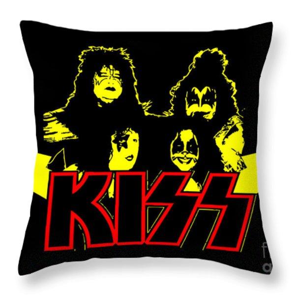 KISS No.01 Throw Pillow by Caio Caldas