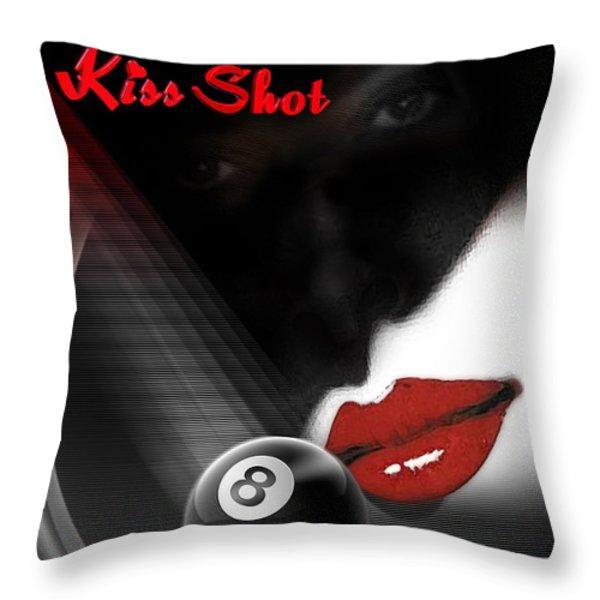 Kissshot2 Throw Pillow by Draw Shots