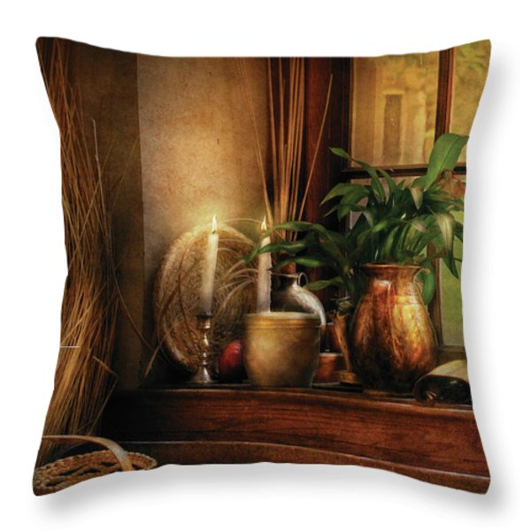 Kitchen - One fine evening Throw Pillow by Mike Savad