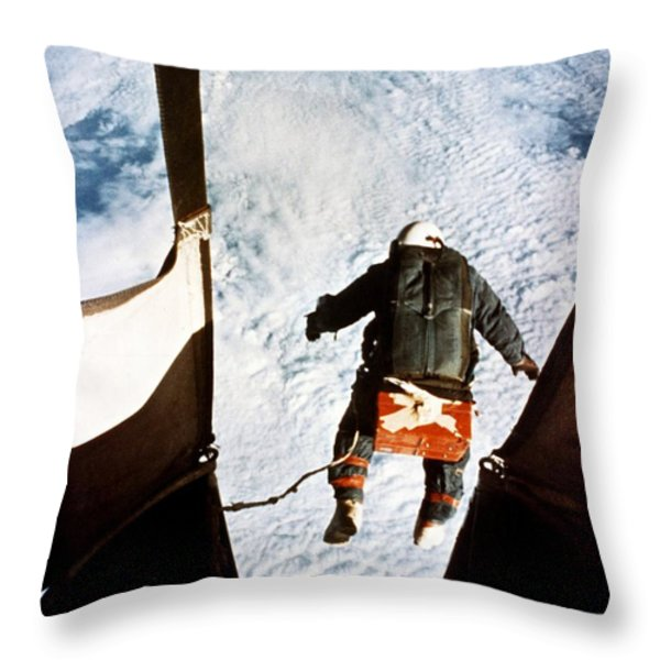 Kittinger Throw Pillow by SPL and Photo Researchers