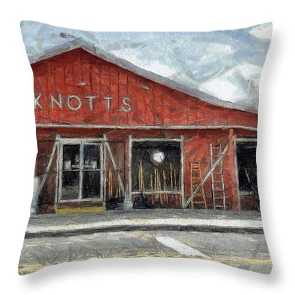 Knott's Hardware Throw Pillow by Murphy Elliott