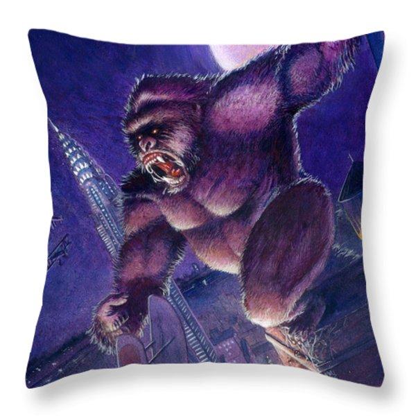 Kong Throw Pillow by Ken Meyer jr