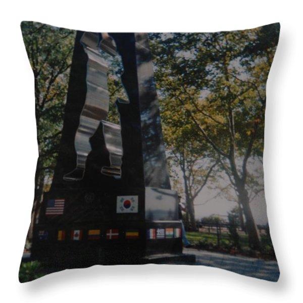 Korean War Memorial Throw Pillow by Rob Hans