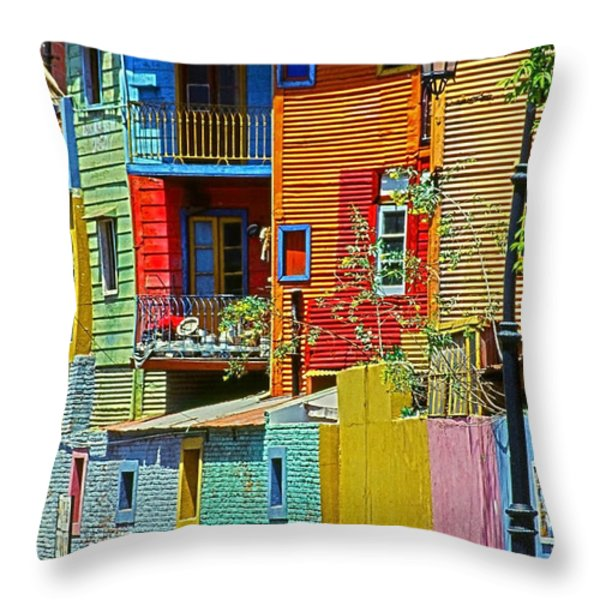 La Boca - Buenos Aires Throw Pillow by Juergen Weiss