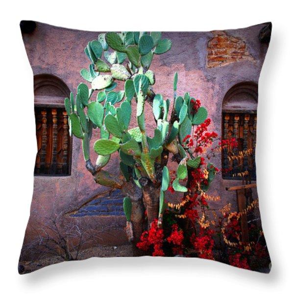 La Hacienda in Old Tuscon AZ Throw Pillow by Susanne Van Hulst