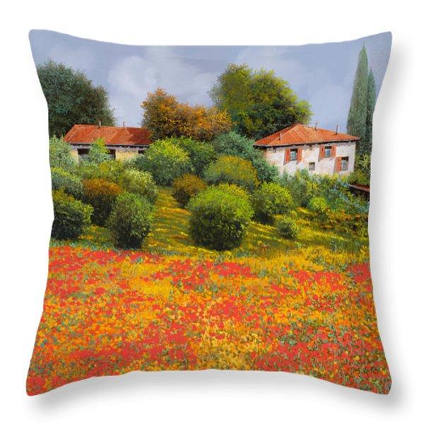 la nuova estate Throw Pillow by Guido Borelli