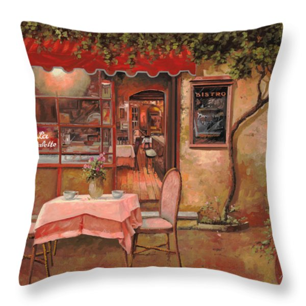 la palette Throw Pillow by Guido Borelli