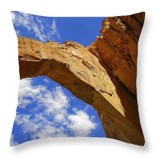 La Ventana Natural Arch Throw Pillow by Christine Till