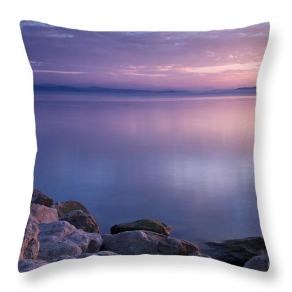 Lake Constance Throw Pillow by Silke Magino