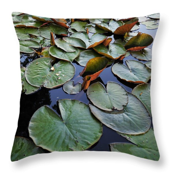 Lake Plant Throw Pillow by Svetlana Sewell